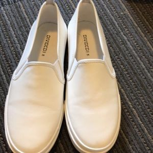 Shoes - White Slip Ons